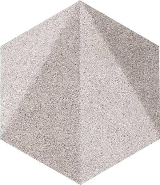 Dekor ścienny Tubądzin Free Space hex grey STR 11x12,5 cm (p) DS-01-214-0110-0125-1-024