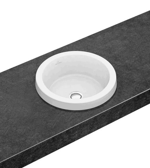 Umywalka wpuszczana w blat okrągła Villeroy & Boch Architectura 415 mm Weiss Alpin 41654101