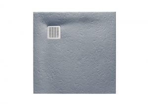Brodzik kwadratowy Roca Terran 800x800 mm Syfon w kpl. Szary cement AP0332032001300