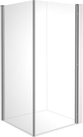 Kabina kwadratowa Duravit OpenSpace B prawa 88,5x88,5 cm szkło przezroczyste 770008000010000