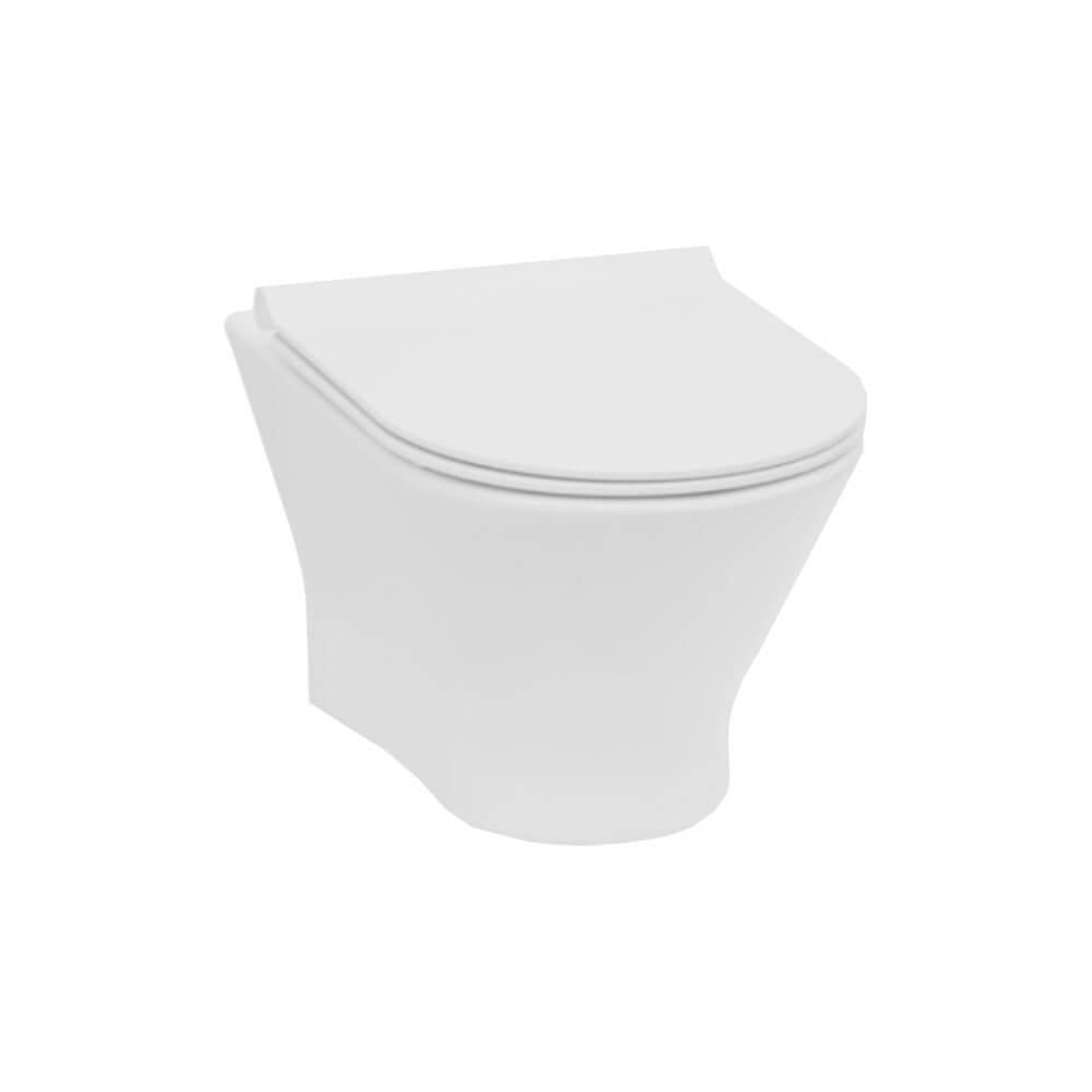 Miska WC podwieszana Roca Nexo Pack Rimless z deską slim A34H64L000