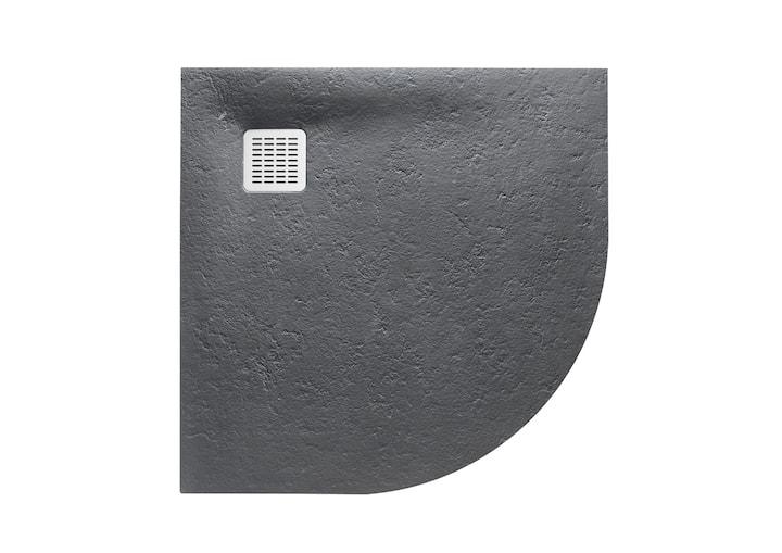 Brodzik 1/4 koła Roca Terran 900x900 mm R550  Szary łupek AP10538438401200