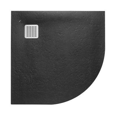 Brodzik 1/4 koła Roca Terran 900x900 mm R550  Czarny AP10538438401400