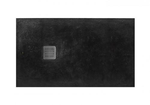Brodzik prostokątny Roca Terran 1800x800 mm Syfon w kpl. Czarny AP0170832001400