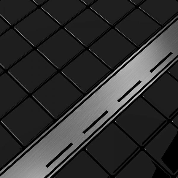 Zdjęcie Odpływ liniowy Aquadomo Line ze stali nierdzewnej czarny mat 90 cm