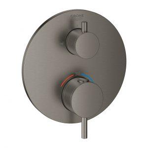 GROHE Atrio - bateria do obsługi dwóch wyjść wody brushed hard graphite 24138AL3