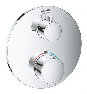 GROHE Grohtherm - bateria termostatyczna do obsługi dwóch wyjść wody chrom 24077000
