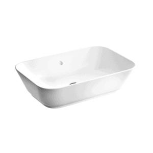 Umywalka  nablatowa Vitra Geo 60x38,5  cm prostokątna, bez przelewu, bez otworu na baterię 7425B003-0016