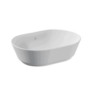 Umywalka nablatowa Vitra Geo 55 cm owalna, bez przelewu, bez otworu na baterię 7427B003-0016 @