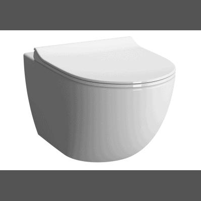 Miska WC Vitra Sento 49,5x36 cm krótka Rim-Ex bez kołnierza 7747B003-0075