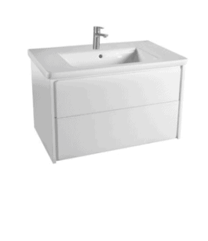 Zestaw łazienkowy Roca Ronda 80x48 cm Unik z 2 szufladami (szafka + umywalka), Biały mat/Biały połysk A851463455