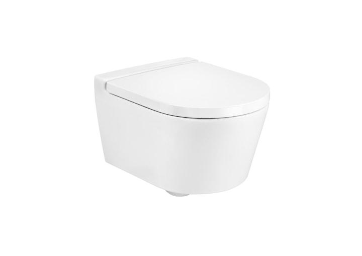 Miska WC podwieszana Roca Inspira 37x48 cm Rimless Round Compacto Maxi Clean A34652800M