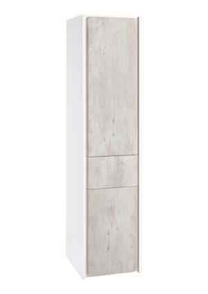Kolumna wysoka - wersja lewa Roca Ronda 140x32 cm, Cement / Biały mat A857344453