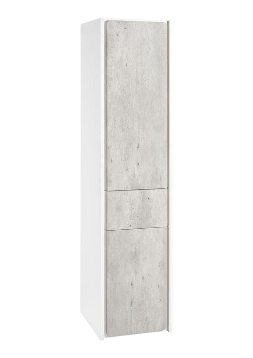 Kolumna wysoka - wersja prawa Roca Ronda 140x32 cm, Cement / Biały mat A857345453
