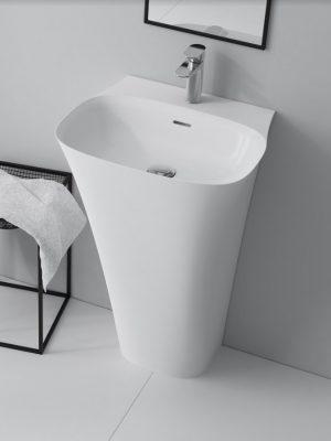 Umywalka przyścienna wolnostojąca Marmite Noa z konglomeratu 85x51,9x45 cm NOA0006