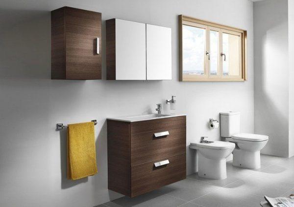 Zdjęcie Szafka łazienkowa z lustrem Roca Debba / Luna 50×60 cm, Biały połysk A856840806