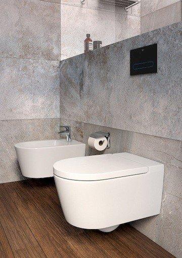 Zdjęcie Miska WC podwieszana Roca Inspira 37×56 cm Rimless Round Maxi Clean A34652700M