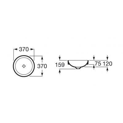 Zdjęcie Umywalka blatowa cienkościenna Roca Inspira 37×37 cm Round FINECERAMIC® A32752R000
