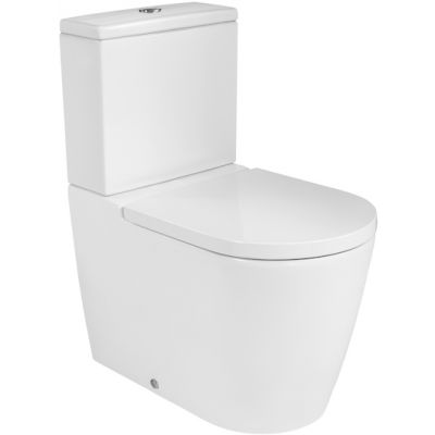 Miska WC o/podwójny do kompaktu Roca Inspira 37.5x64.5 cm Rimless Round A342526000