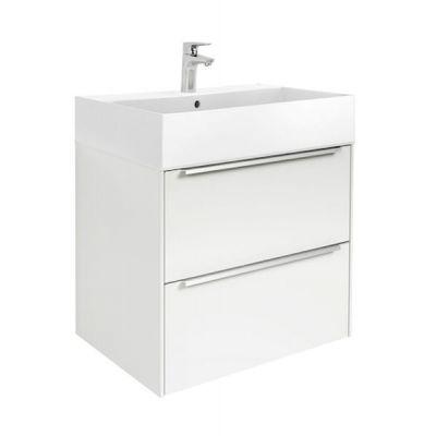 Zestaw łazienkowy Roca Inspira 60x67,4 cm Unik z 2 szufladami (szafka + umywalka), Biały połysk A851075806