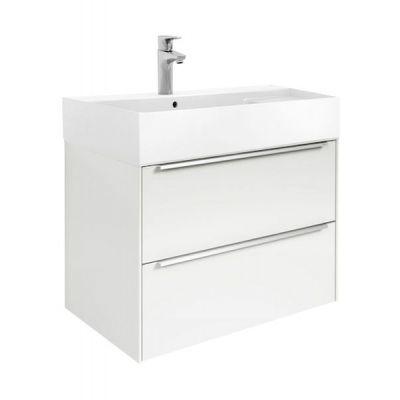 Zestaw łazienkowy Roca Inspira 80x67,4 cm Unik z 2 szufladami (szafka + umywalka), Biały połysk A851076806