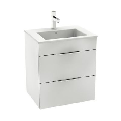 Zestaw łazienkowy Roca Suit 55x62 cm Unik z 2 szufladami (szafka+umywalka), Biały połysk  A85118A806
