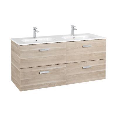 Zestaw łazienkowy Roca Victoria Basic 120x56,5 cm Unik z 4 szufladami (szafka+umywalka) Brzoza A855850422