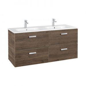 Zestaw łazienkowy Roca Victoria Basic 120x56,5 cm Unik z 4 szufladami (szafka+umywalka) Cedr A855850423