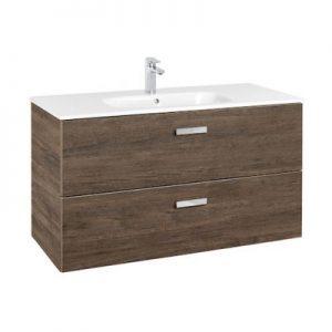 Zestaw łazienkowy Roca Victoria Basic 100x56,5 cm Unik z 2 szufladami (szafka+umywalka) Cedr A855851423