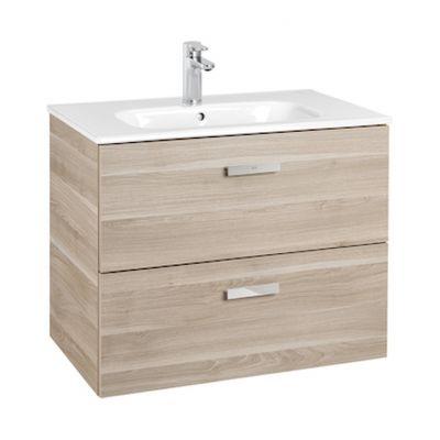 Zestaw łazienkowy Roca Victoria Basic 70x56,5 cm Unik z 2 szufladami (szafka+umywalka) Brzoza A855853422