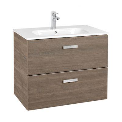Zestaw łazienkowy Roca Victoria Basic 70x56,5 cm Unik z 2 szufladami (szafka+umywalka) Cedr A855853423
