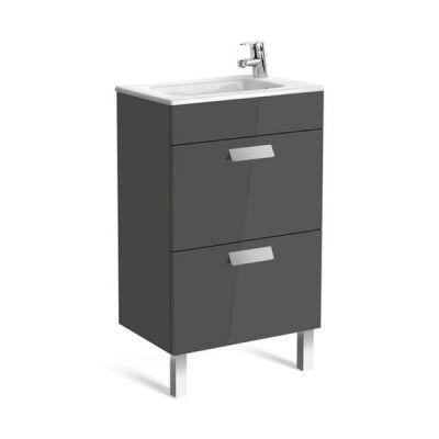 Zestaw łazienkowy Roca Debba 50x72 cm Unik Compacto z 2 szufladami (szafka+umywalka) Szary antracyt A855904153