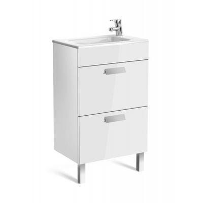 Zestaw łazienkowy Roca Debba 50x72 cm Unik Compacto z 2 szufladami (szafka+umywalka) Biały połysk A855904806