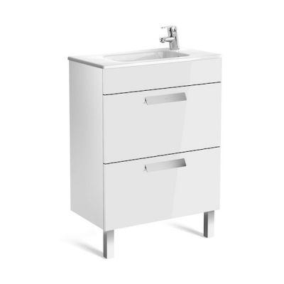 Zestaw łazienkowy Roca Debba 60x72 cm Unik Compacto z 2 szufladami (szafka+umywalka) Biały połysk A855905806