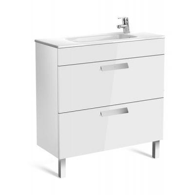 Zestaw łazienkowy Roca Debba 80x72 cm Unik Compacto z 2 szufladami (szafka+umywalka) Biały połysk A855907806