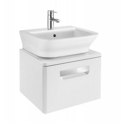 Szafka z drzwiami pod umywalkę z drzwiami Roca Gap 45x32 cm, (bez umywalki), Biały połysk A856968806