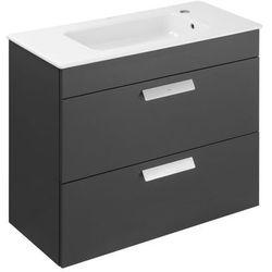 Zestaw łazienkowy Roca Debba 80x72 cm Unik Compacto z 2 szufladami (szafka+umywalka) Szary antracyt A855907153