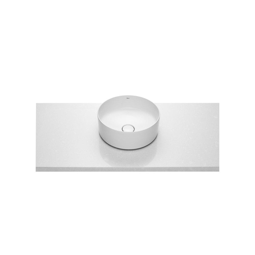 Umywalka nablatowa cienkościenna Roca Inspira 37x37 cm Round FINECERAMIC® A327523000