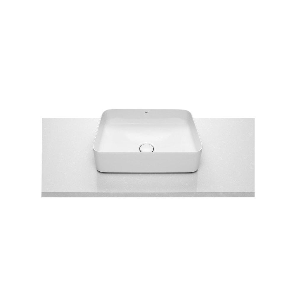 Umywalka nablatowa cienkościenna Roca Inspira 50x37 cm Square FINECERAMIC® A327530000