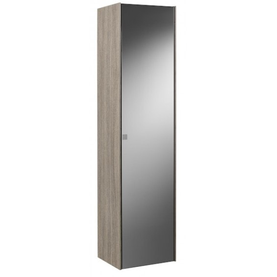 Kolumna wysoka - wersja prawa Roca Inspira 160x40 cm, Dąb / Ciemne szkło A857034403