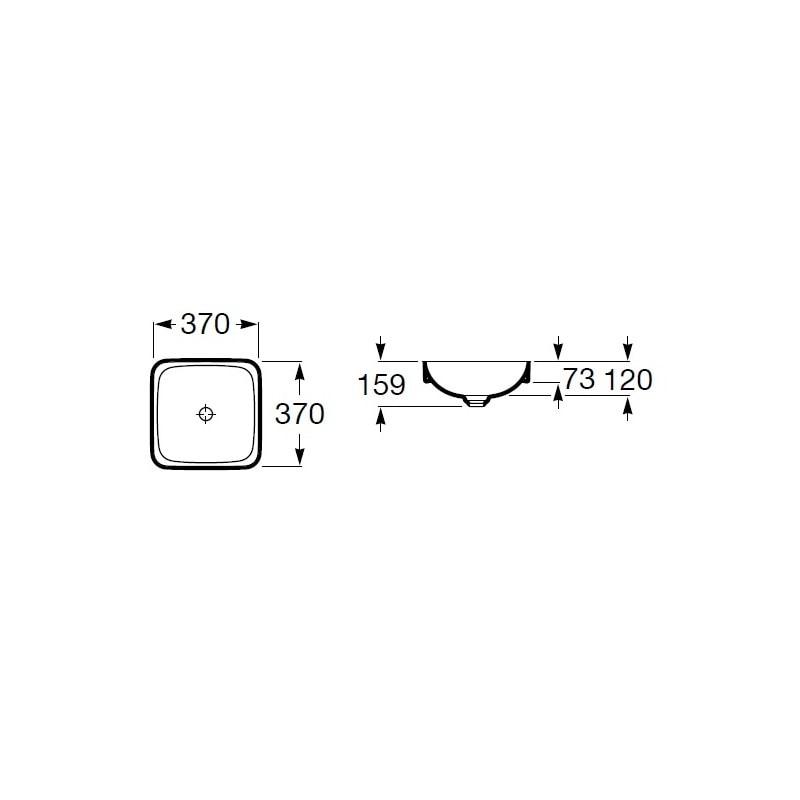 Zdjęcie Umywalka blatowa cienkościenna Roca Inspira 37×37 cm Square FINECERAMIC® A32753R000