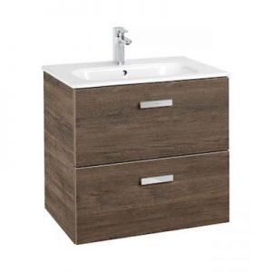 Zestaw łazienkowy Roca Victoria Basic 60x56,5 cm Unik z 2 szufladami (szafka+umywalka) Cedr A855854423