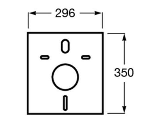 Zdjęcie Mata wygłuszająca 296×350 mm Roca Stelaże A890063000