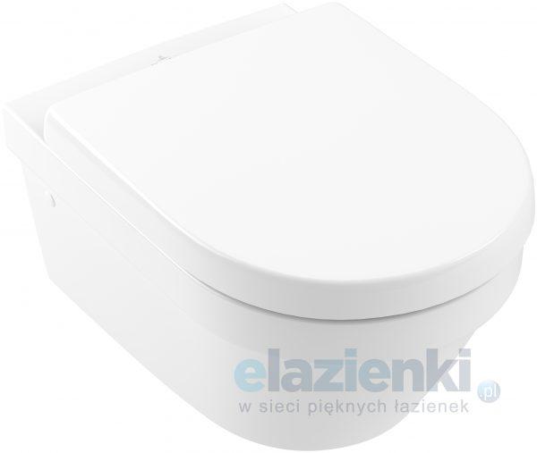 Zdjęcie Miska WC wisząca Villeroy & Boch Architectura 2.0 ukryte mocowania 37 x 53 cm biała + Deska WC wolnoopadająca 4694R001+98M9C101