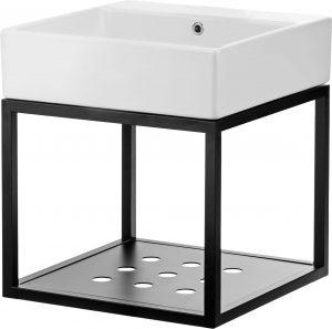 Deante Temisto Umywalka stawiana na blacie z konsolą łazienkową wiszącą 60x50 cm CDTW6U6S
