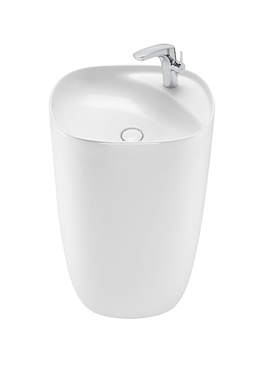 Umywalka stojąca FINECERAMIC® Roca Beyond 50x45x88 cm, biała A3270B0000