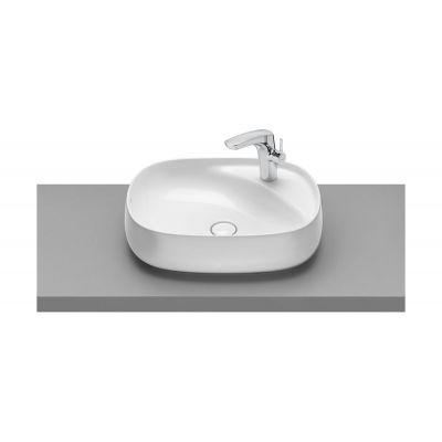 Umywalka nablatowa FINECERAMIC® Maxi Clean Roca Beyond 58,5x45,5 cm, biała A3270B800M