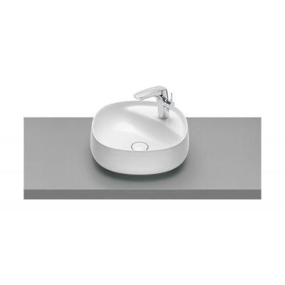 Umywalka nablatowa FINECERAMIC® Maxi Clean Roca Beyond 45,5x45,5 cm, biała A3270B900M