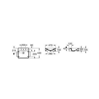 Zdjęcie Umywalka ścienna lub nablatowa z powłoką MaxiClean Roca Diverta 47×44 cm biała A32711100M