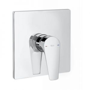 Element zewnętrzny baterii wannowej lub prysznicowej do łączenia z ROCABOX Roca Atlas, chrom A5A2B90C00